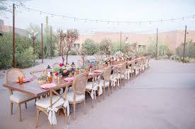 Desert Botanical Garden Restaurant Striking Reception Setting On The Boppart Courtyard At Desert