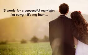 successful marriage quotes 5 words for a successful marriage i m sorry it s my fault
