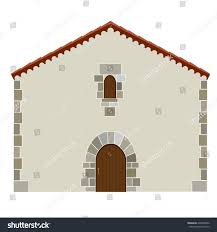 spanish house architecture vector icon isolated stock vector