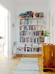 How To Build A Wall Mounted Bookcase Space Saver Swap Out Bookcases For Built In Shelving Apartment