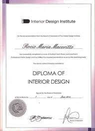 Certificate Of Interior Design by Diploma In Interior Designing