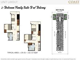 2 bedroom family suite b with balcony coast residences