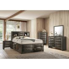 Emily Bedroom Furniture Contemporary Gray 7 King Bedroom Set Emily Rc Willey