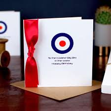 mod style mens and boys birthday cards greetings cards and mod