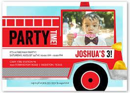 birthday invitation wording for 5 year old boy fire truck fun