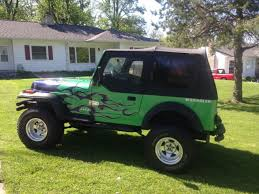 custom paint 1994 jeep wrangler se rebuilt transmission new top