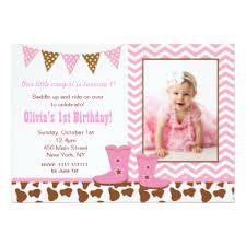 cowgirl birthday invitations u0026 announcements zazzle