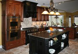 Black And Brown Kitchen Cabinets Black Brown Cherry Kitchen Cabinets Kitchenidease