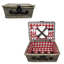 picnic basket for 4 wicker beach set large baskets wine four
