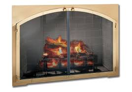 amazing arched glass fireplace doors with fireplace doors design