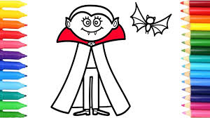 how to draw haloween bat coloring pages for children learning
