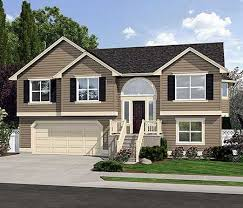 split level house style spacious split level home plan siding house
