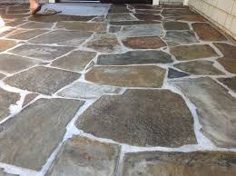 Slate Rock Patio by Slate Tiles For A Patio Video And Photos Madlonsbigbear Com