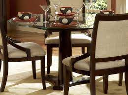 dark brown polished wooden dining table based with rounded beveled