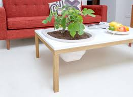tables with built in planters by bellila design milk