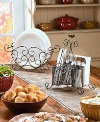Silverware Caddy For Buffet by Buffet Table Organizer 3 Tier Caddy 7pc Serving Utensil Dish Plate