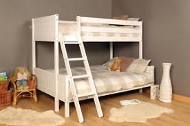 Ft Ft Triple Wooden Bunk Bed Kids Pine White  Mattress Option - Kids wooden bunk beds