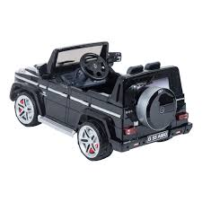mercedes jeep black aosom kids mercedes benz g55 electric ride on car
