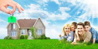 Home Mortgage by Happy Family Near New Home Mortgage Concept Stock Photo Picture