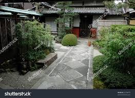 japanese zen gardens traditional japanese zen garden house stock photo 25728919