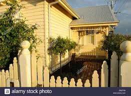 victorian style house yarraville melbourne australia stock