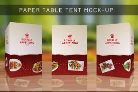 paper table tent mock up templates vol 3 best tent 2018