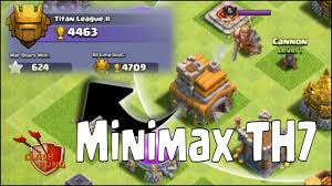 push trophy minimax th7 liga titan clash of clans clash of clans