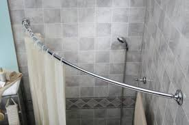 decorate with a curved shower curtain rod home decorations ideas