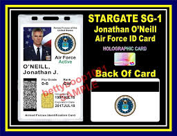 stargate sg 1 id card badge prop jonathan o neill usaf us air