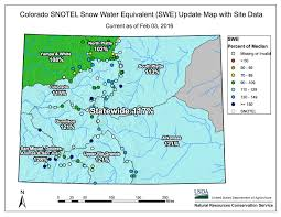 Climate In The Uncompahgre Watershed Uncompahgre Watershed Snowpack News Fresh Snow Over Most Of Colorado Coyote Gulch