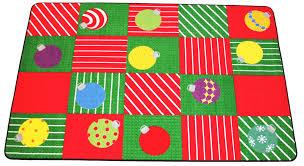 Squares Rug Christmas Ornaments Squares Rug Multi U2013 Holidayrugsoutlet Com