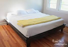 King Size Platform Bed Woodworking Plans by Ana White Hailey Platform Bed King Size Diy Projects