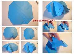 cara membuat origami bunga dari uang kertas cara membuat origami bunga mawar sarungpreneur