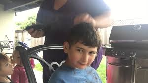 10 year old boy with autism gets haircut at home youtube