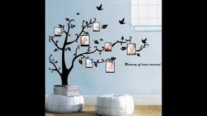 wall stickers home decor virtul photo frame black tree removable decal room wall sticker