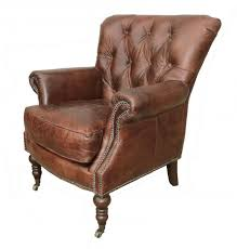 leather reading chair lauren leather tufted club chair
