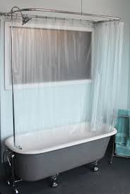 Clawfoot Tub Shower Curtain Liner Searching Suit Ceiling Mounted Shower Curtain For Claw Foot Tub