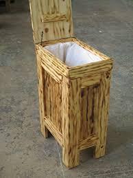 wooden bin wooden wood kitchen trash bin garbage can rectangular 13 gallon