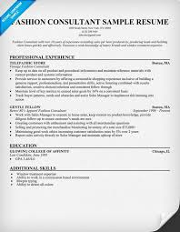 Sap Consultant Resume Sample by Fashion Consultant Cover Letter