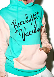 wildfox couture beverly vacation cuddles hoodie dolls kill