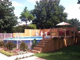 above ground pool decks photos landscaping above ground swimming