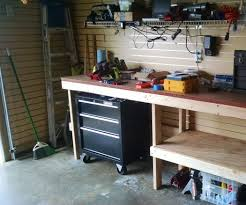 garage workbench steps with pictures