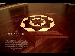 no 23 the 8 rays df ii hardwood floor medallion inlay installed