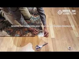 What Is A Rug Pad How To Install An Area Rug Pad Youtube