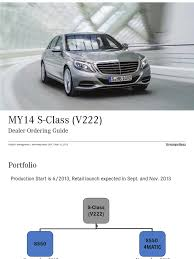 2014 s class order guide car body styles automotive industry