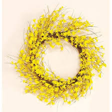forsythia wreath worth imports 22 inch forsythia wreath home kitchen