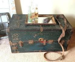 steamer trunk side table antique storage trunk coffee tables small steamer trunk coffee table