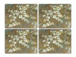 pimpernel dogwood in set of 4 placemats jacaranda tree co