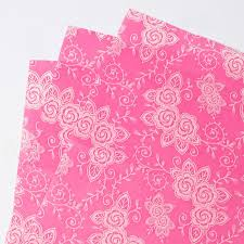 floral tissue paper pink floral tissue paper 7 sheets only 99p