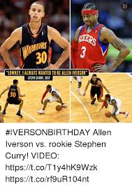 Allen Iverson Meme - lowkey i always wanted to be allen iverson steph curry 2017 30